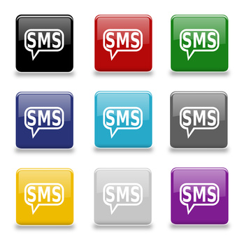 9 farbige SMS Icons